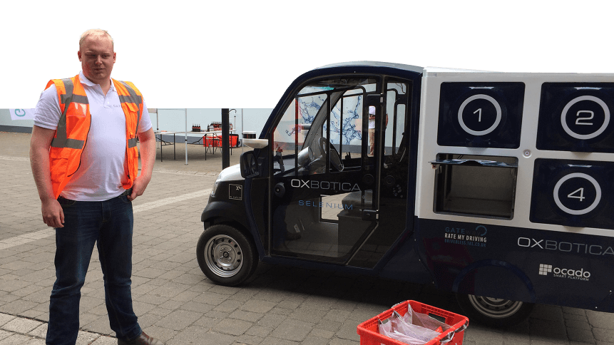 Driverless grocery delivery trucks are becoming a reality.