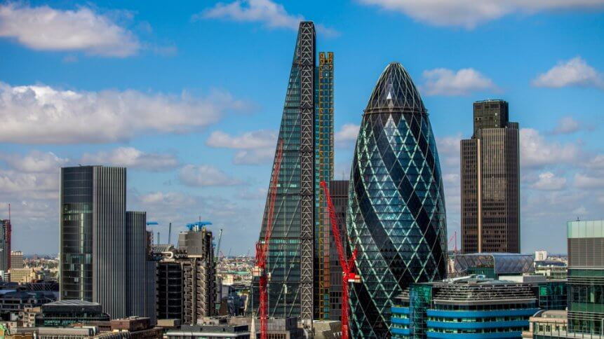 The financial district of london is preparing for a change.