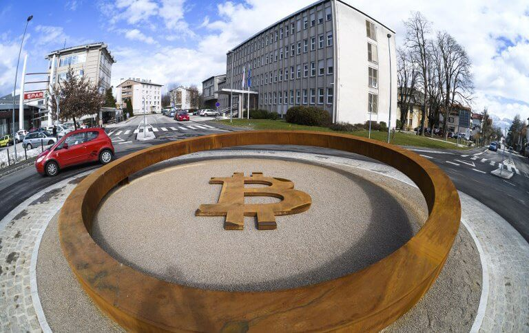 The world's first Blockchain Monument in Kranj, Slovenia.