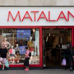 Matalan clothing store shop front on Oxford Street in central London