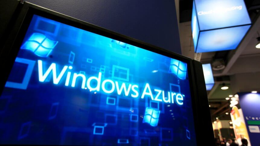 Windows Azure presentation at Microsoft stand during SMAU