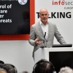 Presenter speaks at Infosec 2018.