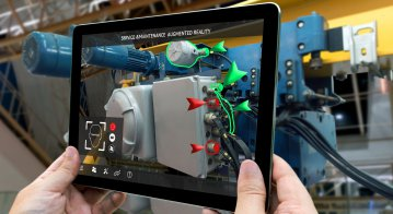 Industrial 4.0 , Augmented reality concept