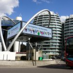London's tech center and UK tech growth hub- 'Silicon Roundabout', Old Street.