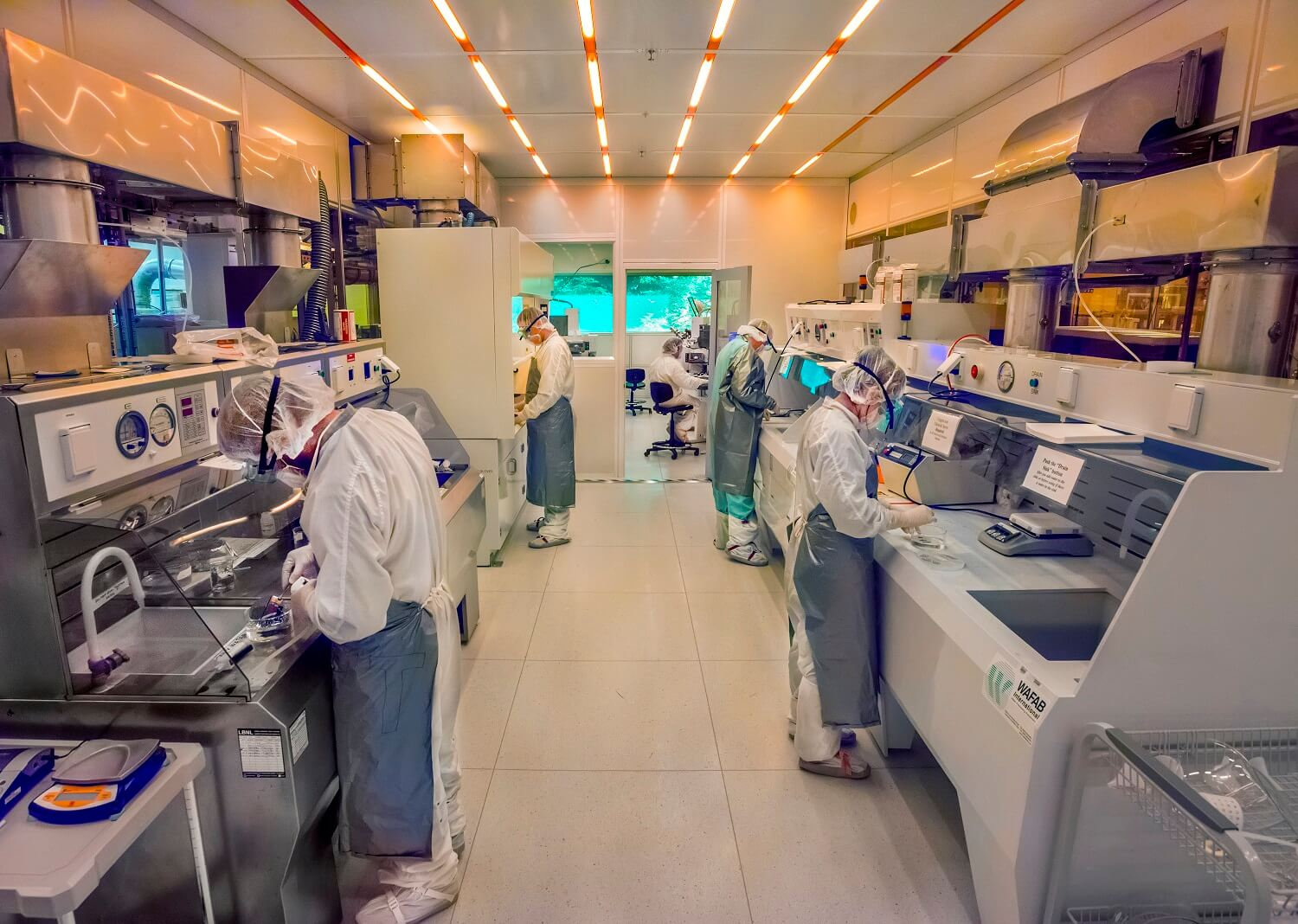 Berkeley Lab's Molecular Foundry Nanofabrication Clean Room.