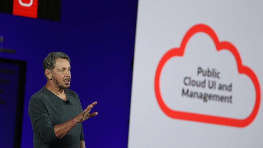 Oracle's Larry Ellison delivers a keynote at the 2019 Oracle OpenWorld on September 16, 2019 in San Francisco, California. Oracle chairman of the board and chief technology officer Larry Ellison kicked off the 2019 Oracle OpenWorld.