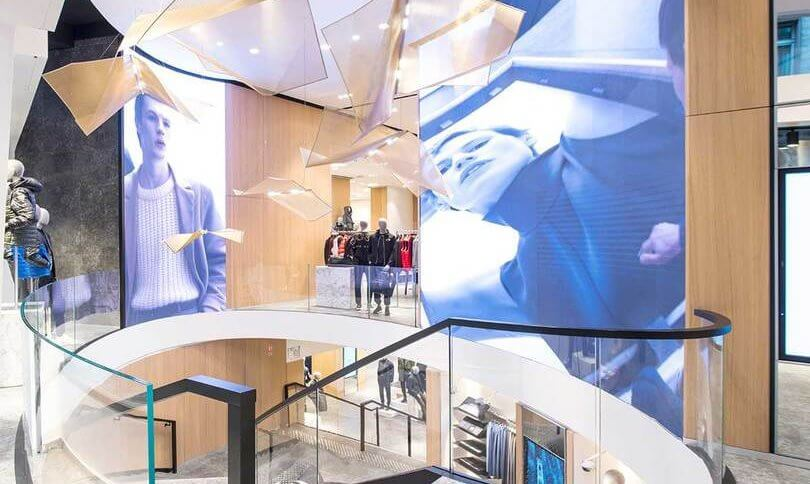 Hugo Boss opened its new flagship store at Avenue des Champs-Élysées in Paris.