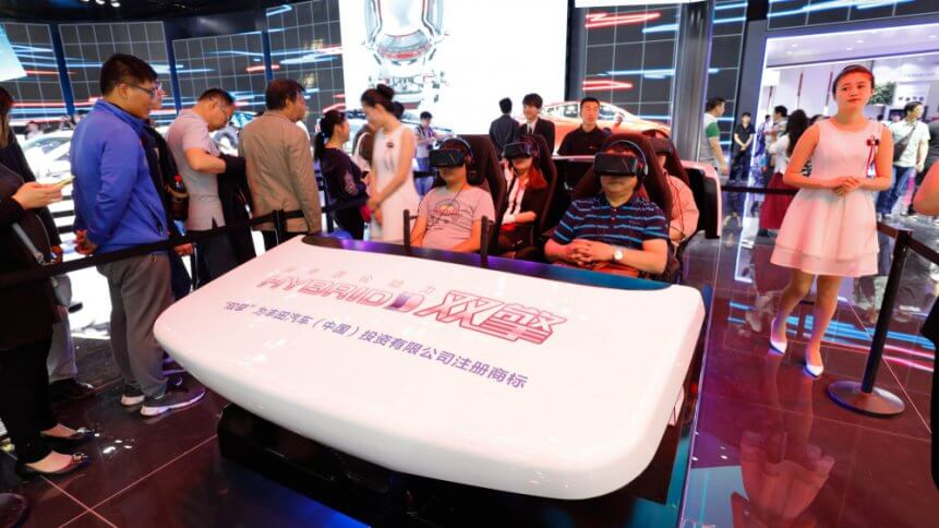 TOYOTA car booth at Beijing international automobile exhibition