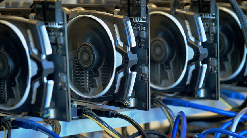 GPUs: High energy consumption hardware used for processing data