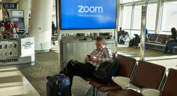 Zoom is providing teleconferencing services to millions working from home. Source: Shutterstock