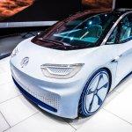World premiere of a Volkswagen electric concept autonomous vehicle in 2016