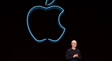 Apple CEO Tim Cook presents the keynote address during Apple's Worldwide Developer Conference (WWDC)