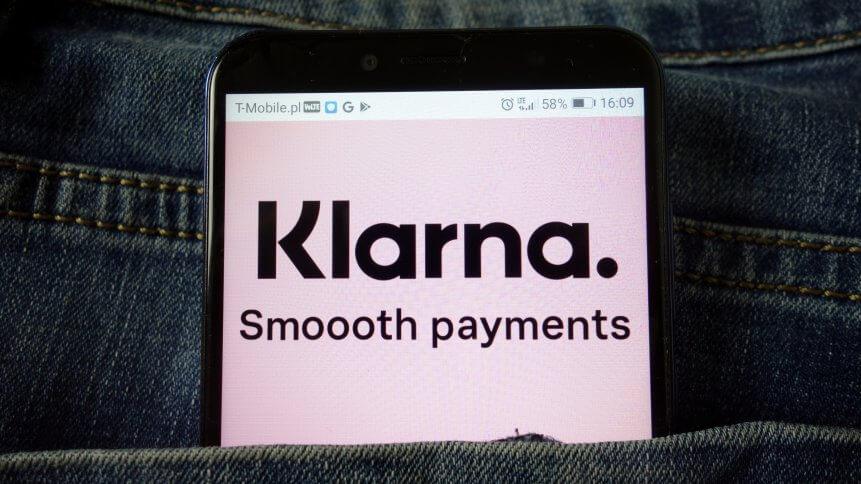 Klarna Bank AB logo displayed on mobile phone
