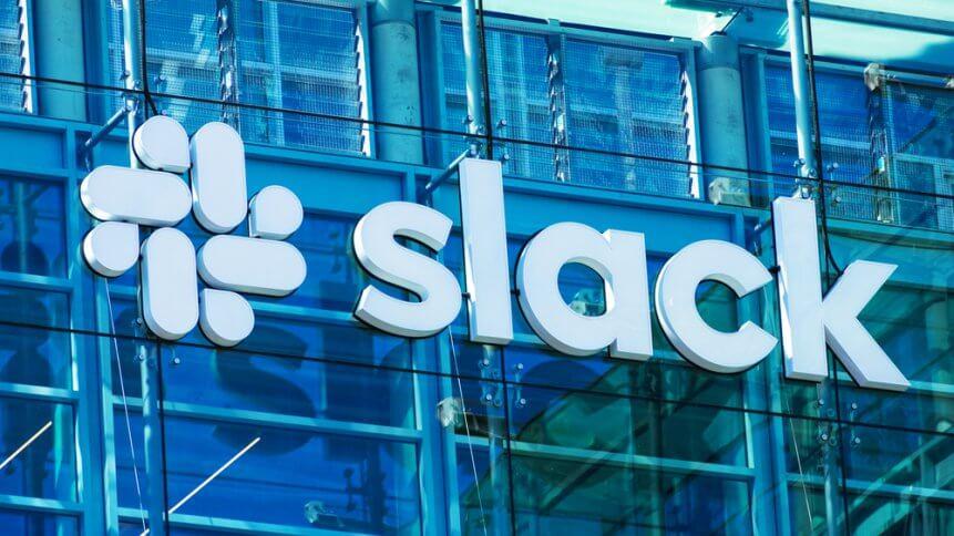 Slack offers an enterprise-based communication platform. Source: Shutterstock