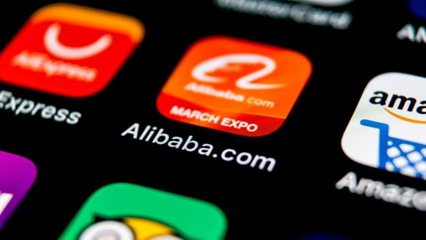 Alibaba application icon on Apple iPhone X