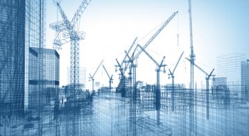 construction site; 3d illustration