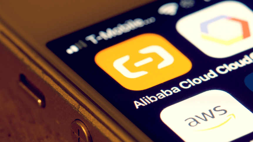 Alibaba Cloud mobile app icon closeup. Alibaba Cloud, also known as Aliyun, is a Chinese cloud computing company, a subsidiary of Alibaba Group