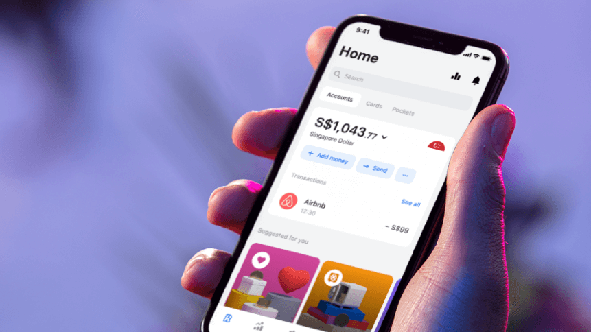 The financial services app launched in the Singaporean market a little over a year ago. Source: Revolut