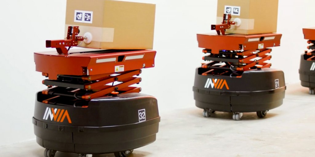 inVia Robotics' Picker robot and management software, a Robotics-as-a-Service subscription for cost-effective robots to operate in warehouses.
