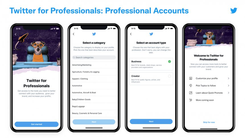 Twitter targets businesses and creators with its latest Professional feature